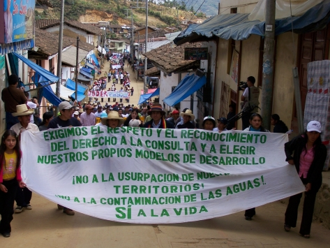 March in Ayabaca