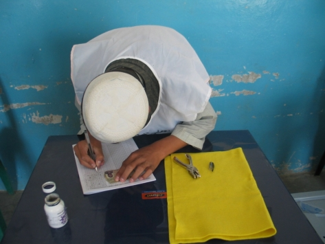 Election worker in Kandahar