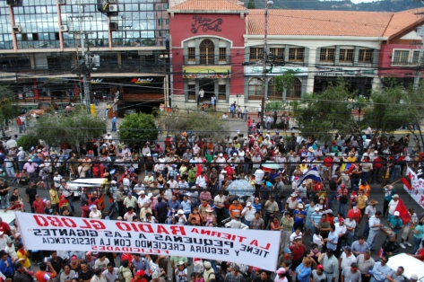 Hondurans demonstrate against the Coup