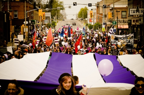 Six Nations Caledonia anniversary march