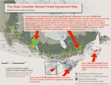 Annotated Canadian Boreal Forest Agreement Map