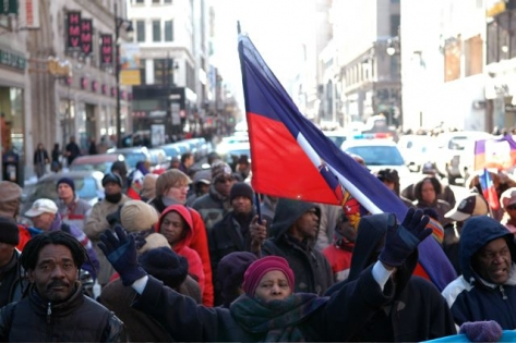 Haiti Solidarity March In Montreal 1