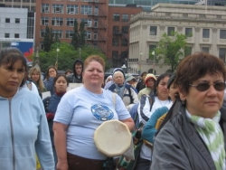 Crowd Members at the Walk4Justice in Ottawa