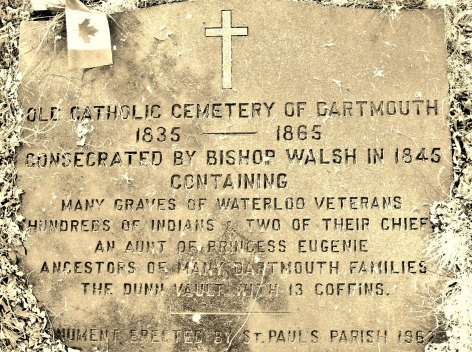 Marker at St. Paul's Cemetery