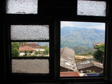 Marmato Through Broken Window
