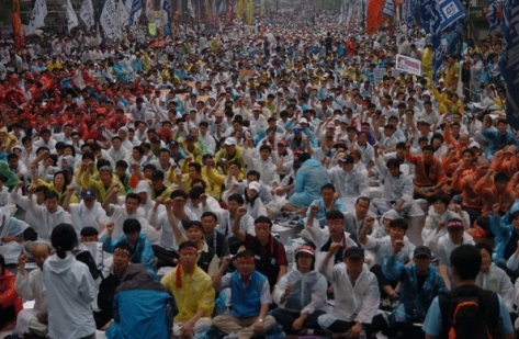 July 2007 Anti FTA protest in Korea