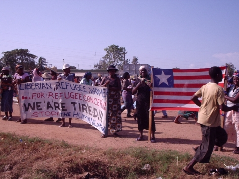 Liberian Refugee Protests 2