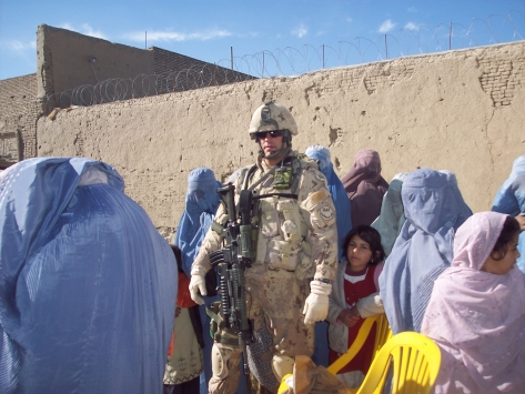 Canadian Solider in Kandahar City