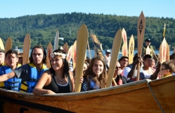 Canoes arrive at Whey-Ah-Wichen - III