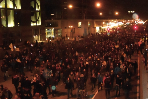 April 25 night march in Montreal 1