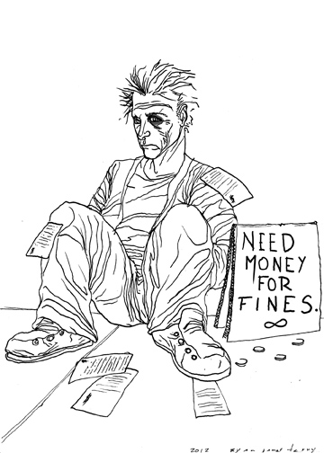 Homeless fines
