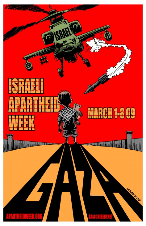 israeli apartheid week The palestinian wall of lies