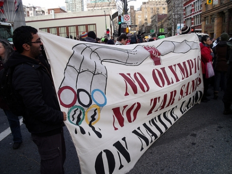 Olympic/Tar Sands Banner