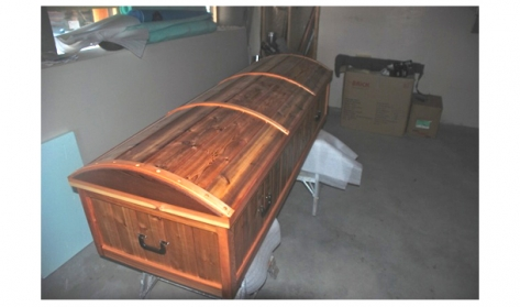 Wiebo's coffin