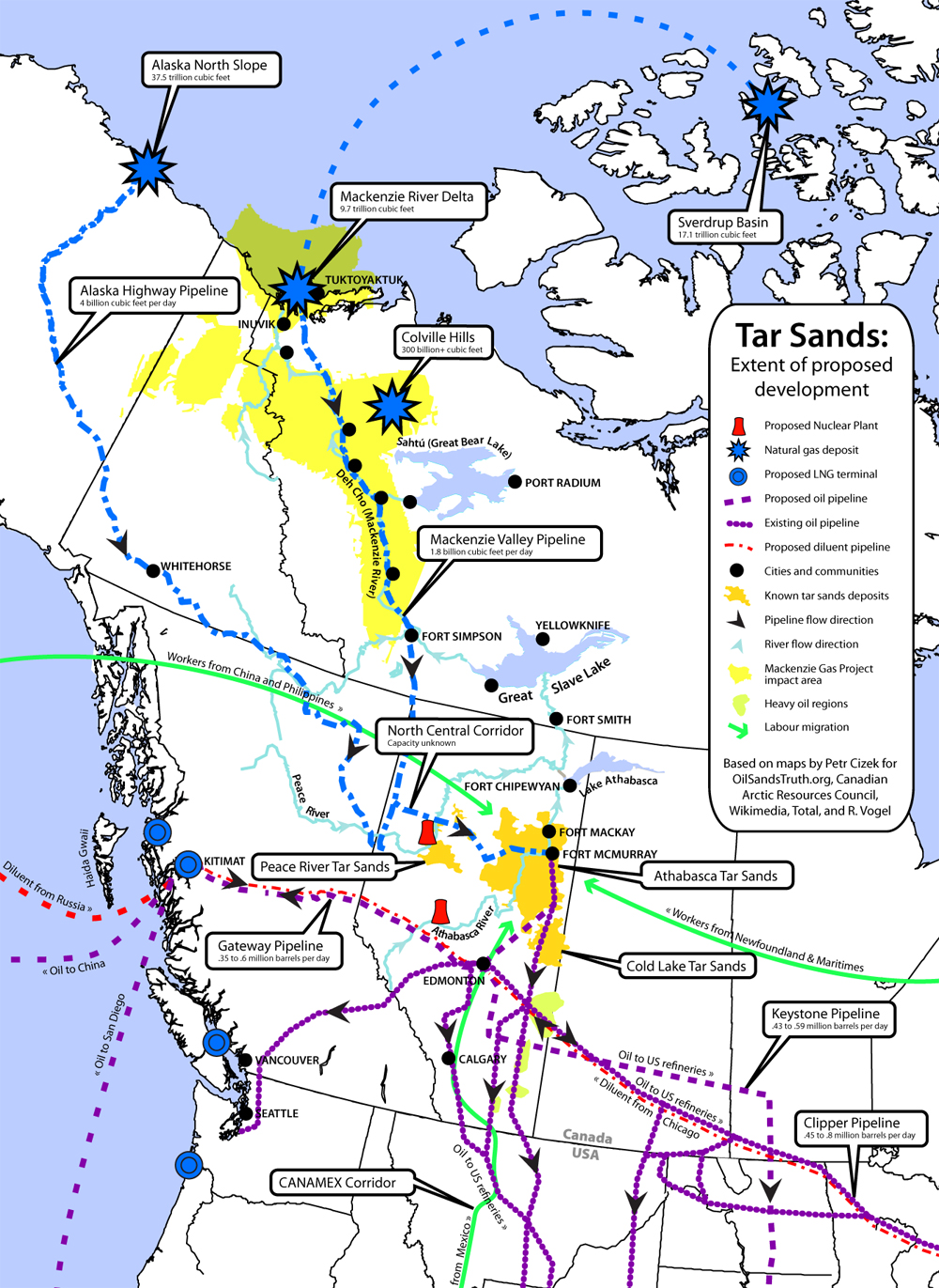Based On Cartography And Files By Petr Cizek For Oilsandstruth Org Mackenzie Valley Pipeline